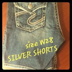 Silver shorts w28